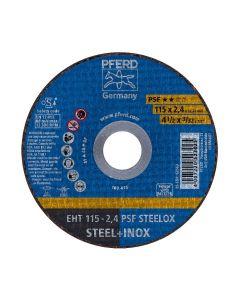 DISCO DE CORTE METAL INOXIDABLE 4.1/2 - 2.4MM PSF (CAJA 25 UDS.) PFERD